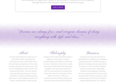 Carolyn Verdi Boutique Focus on mission statement and business strengths