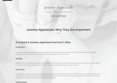 D'Antonio and Klein Jewelers Certified Jewelry Appraisals Page