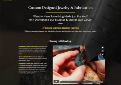 Custom fabrication page with video