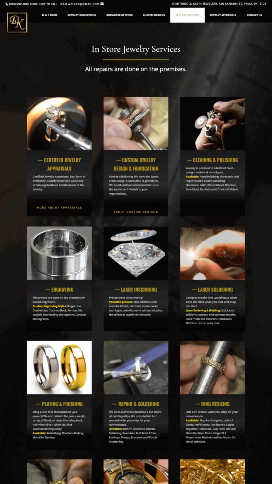 D'Antonio & Klein Services Page