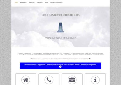 DeChristopher Brothers landing page above the fold