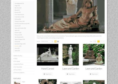 Memorial category page for Statuary