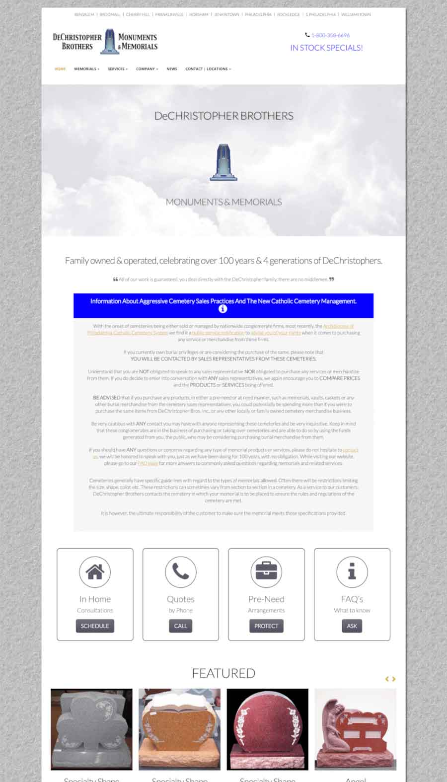 DeChristopher Brother Landing Page