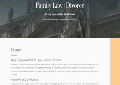Family Law - Divorce page