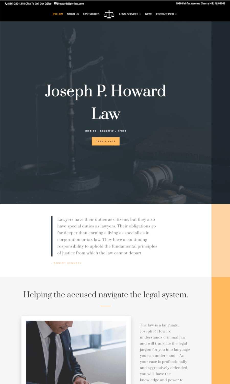 Joseph P Howard Law Office - Landing Page