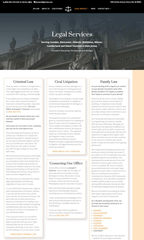 Joseph P Howard Law Office - Legal Services