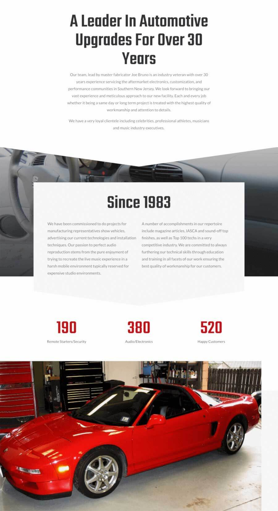 Joe Bruno Designs Service Page
