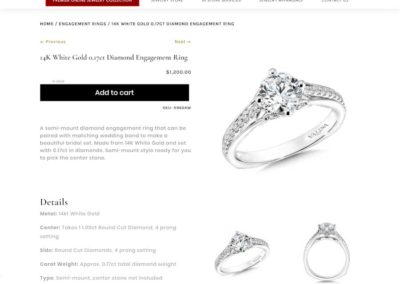 More Than Just Rings Styled product listing. Large add to cart button and images