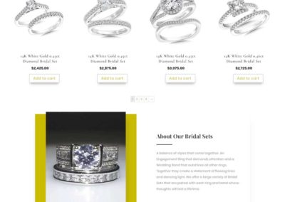 More Than Just Rings Bottom of product category page with details about work