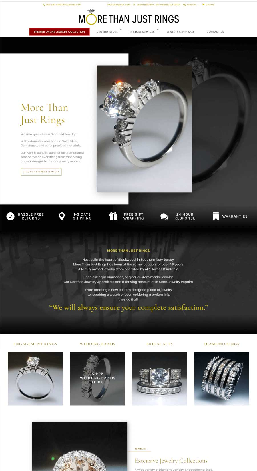 More Than Just Rings Landing Page