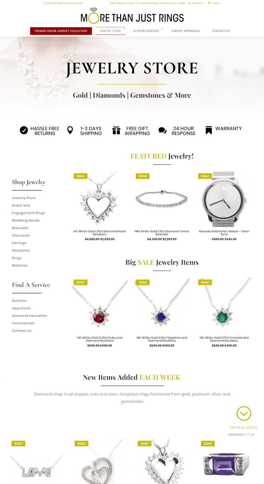 More Than Just Rings Jewelry Store Page