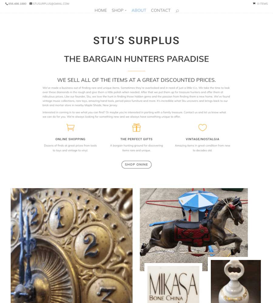 Stu's Surplus - Information Section