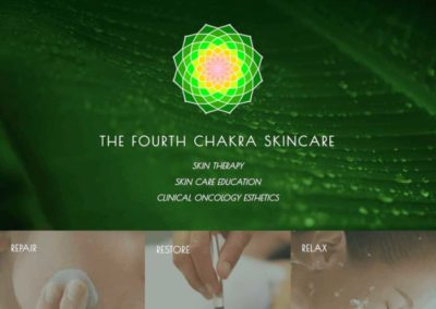 The Fourth Chakra Landing page above the fold