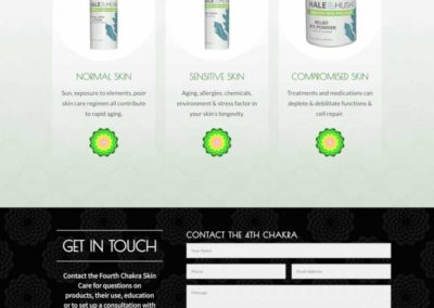 Landing page skin care product types