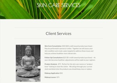The Fourth Chakra Skin care services