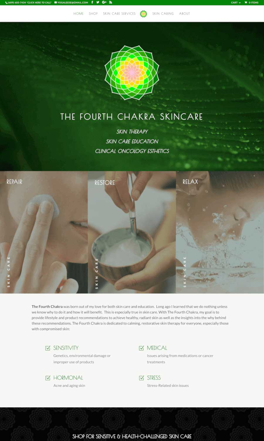 The Fourth Chakra landing page