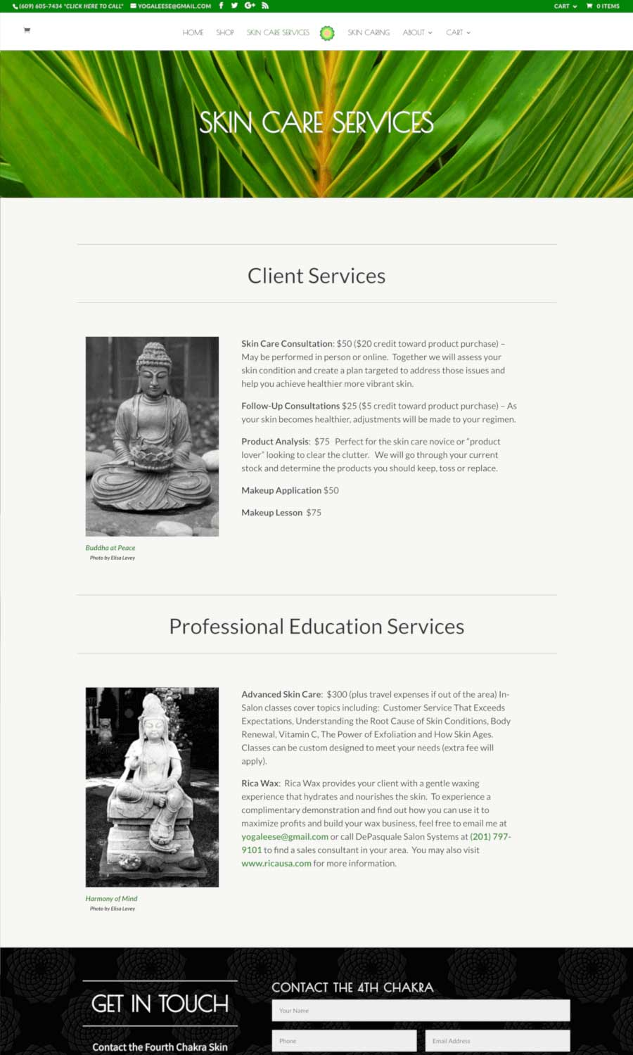 The Fourth Chakra Services Page