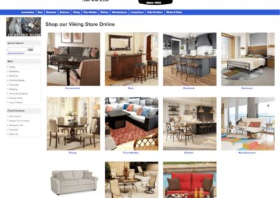 Viking Casual Furniture Online store broken down by types of furniture