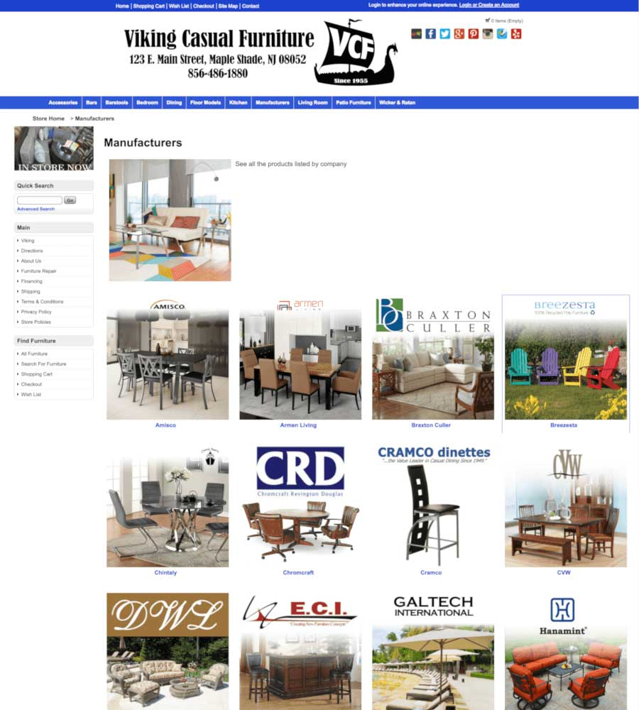 Viking Casual Furniture - Brand Manufacturers Page