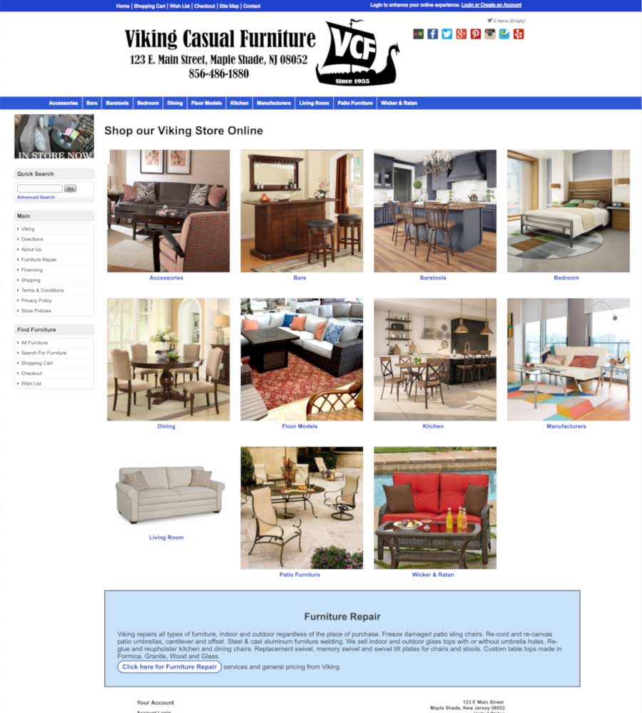 Viking Casual Furniture - Online Shopping Page