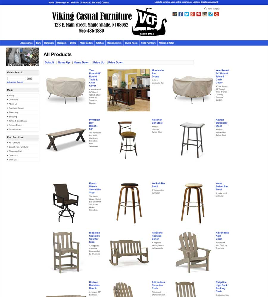 Viking Casual Furniture - All Products Page